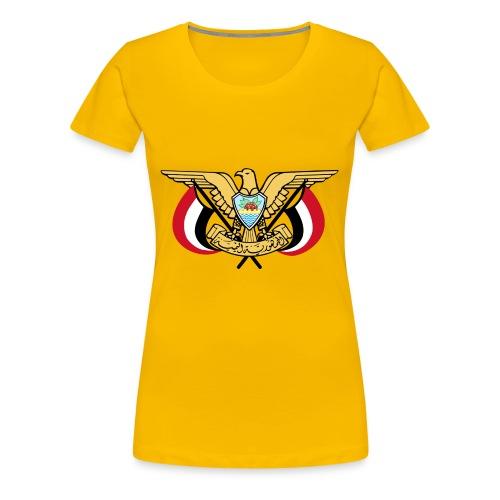 Emblem of Yemen svg - Women's Premium T-Shirt