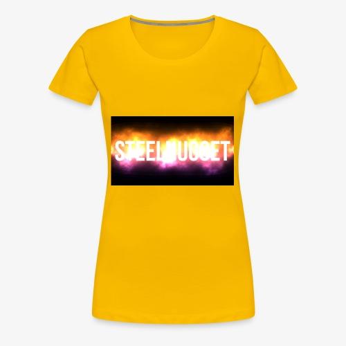SteelNugget Glowing Text Effect - Women's Premium T-Shirt