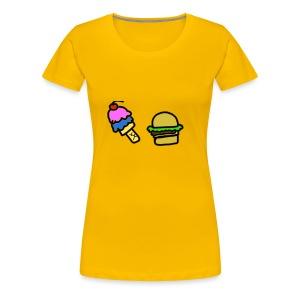 Ice Cream and cheeseburgers - Women's Premium T-Shirt