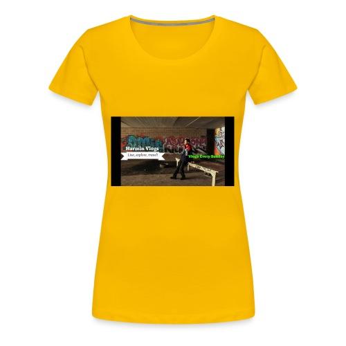 Harmin vlogs banner - Women's Premium T-Shirt