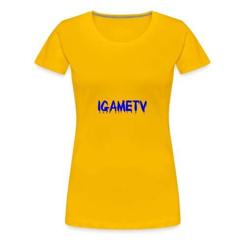 IGAME TV BLUE EDITION - Women's Premium T-Shirt