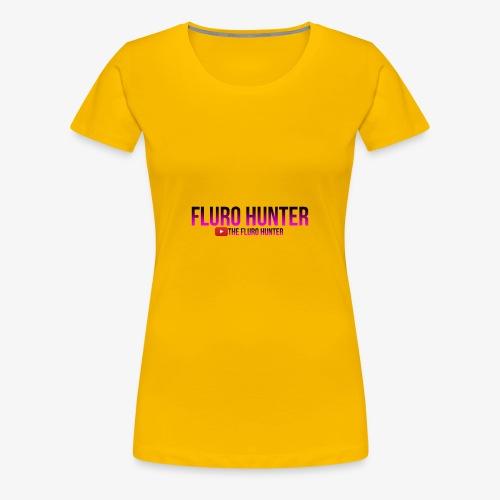 The Fluro Hunter Black And Purple Gradient - Women's Premium T-Shirt
