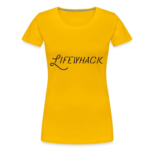Black Lifewhack Logo Products - Women's Premium T-Shirt