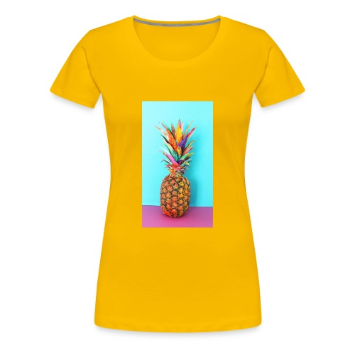 Colorful pineapple - Women's Premium T-Shirt