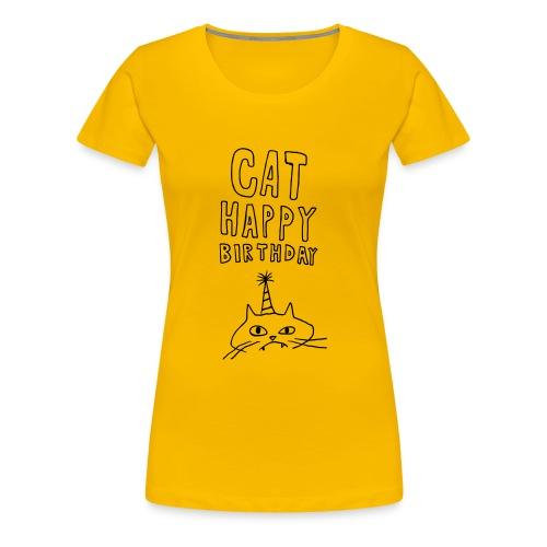 Cat Happy Birthday Collection - Women's Premium T-Shirt