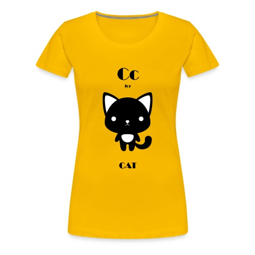 CAT_BW - Women's Premium T-Shirt