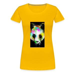 panda paint - Women's Premium T-Shirt