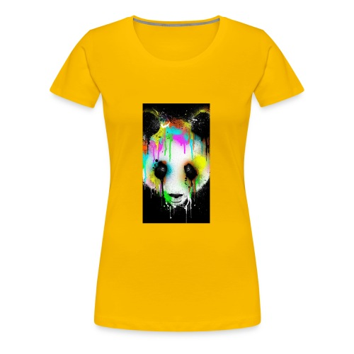 panda paint - Women's Premium T-Shirt