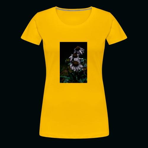 Flowers and Bee - Women's Premium T-Shirt