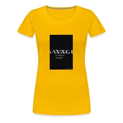 Subscribe to savage mide - Women's Premium T-Shirt