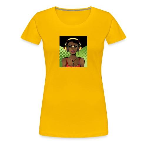 Chocolate Music Girl - Women's Premium T-Shirt