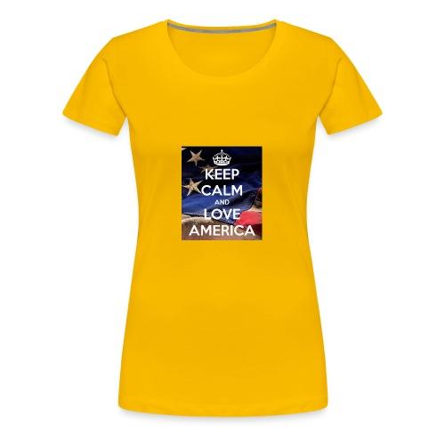 Keep calm and love America - Women's Premium T-Shirt