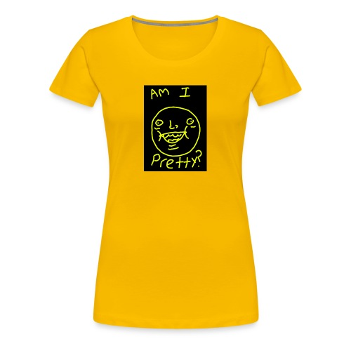 Am I pretty? - Women's Premium T-Shirt