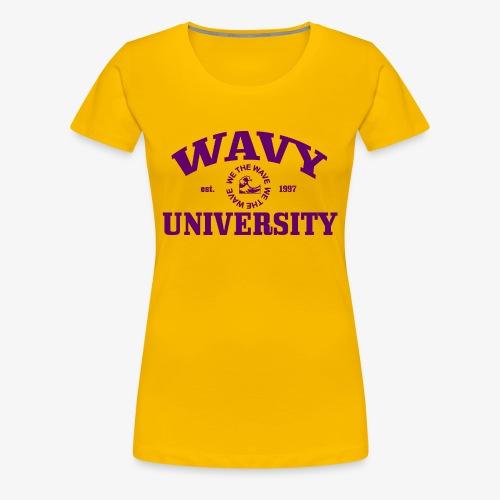 Wavy U (Purple) - Women's Premium T-Shirt