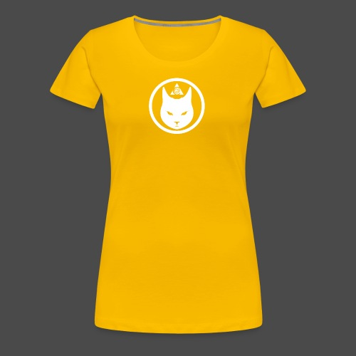 Cat Head Logo White - Women's Premium T-Shirt