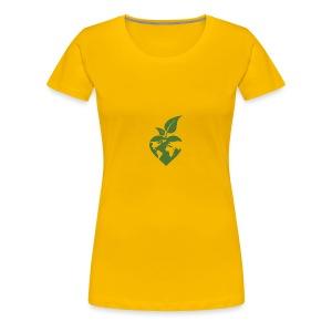 Heart, World, Grow - Women's Premium T-Shirt