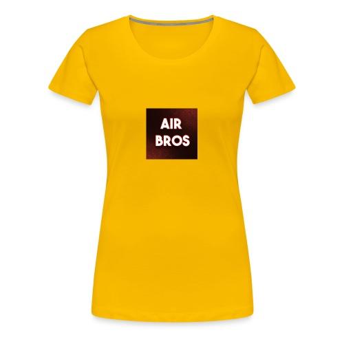 Black merch AIR BROS - Women's Premium T-Shirt