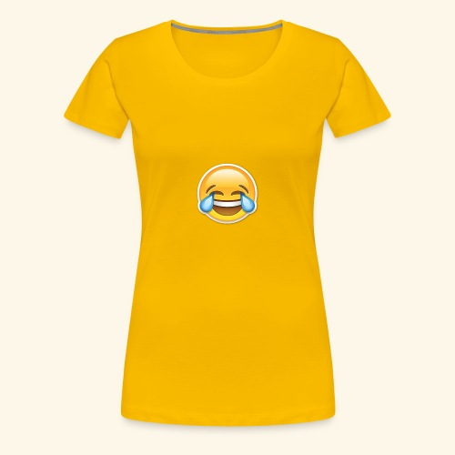 Face with Tears of Joy design PNG - Women's Premium T-Shirt
