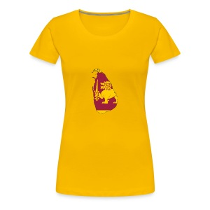 Flag map of sri lanka - Women's Premium T-Shirt