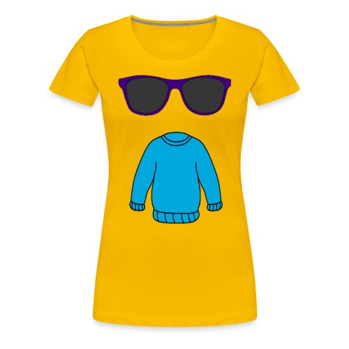 sweater glasses - Women's Premium T-Shirt