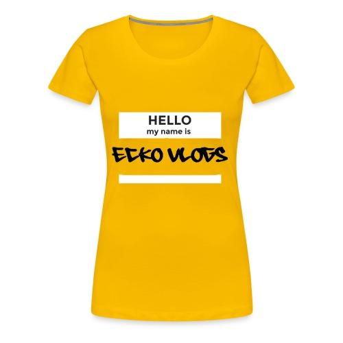 Hello my name is... - Women's Premium T-Shirt