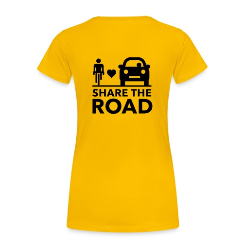 Share the road - Women's Premium T-Shirt