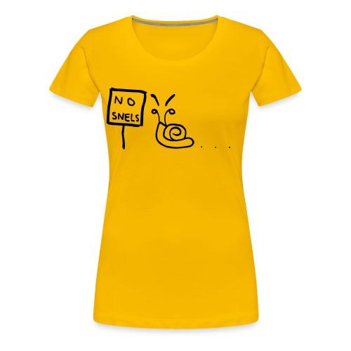 No Snels Original - Women's Premium T-Shirt