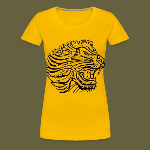 Cent Lion Head Black - Women's Premium T-Shirt