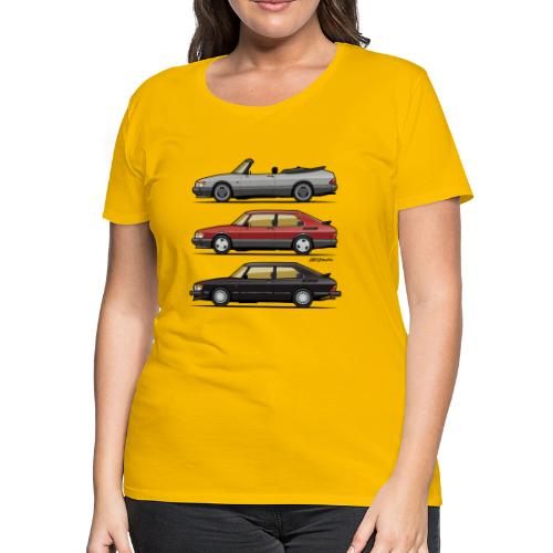 Saab 900 Turbo Trio - Women's Premium T-Shirt