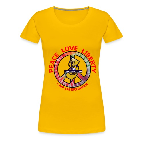 NJ Libertarian Peace, Love, Liberty - Women's Premium T-Shirt