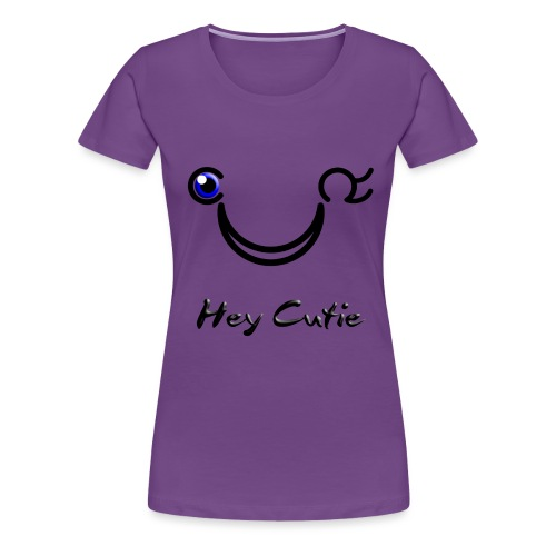 Hey Cutie Blue Eye Wink - Women's Premium T-Shirt