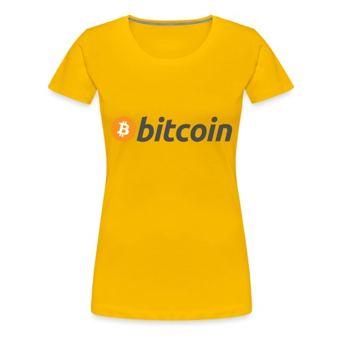 Bitcoin Logo Wear - Women's Premium T-Shirt