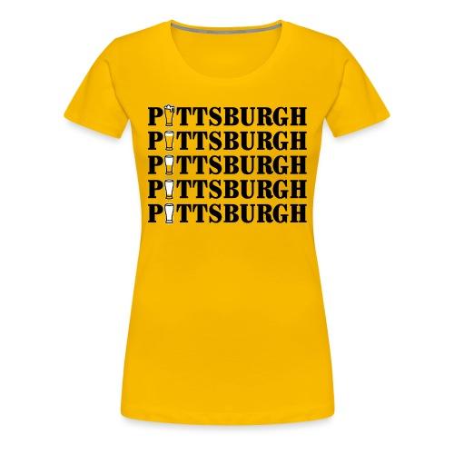 Beer in Pittsburgh - Women's Premium T-Shirt