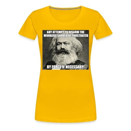 karl marx disarm workers - Women's Premium T-Shirt