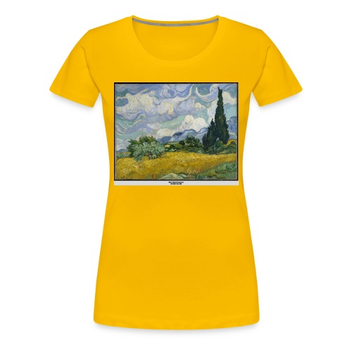 Wheat Field with Cypresses, VAN GOGH - Women's Premium T-Shirt