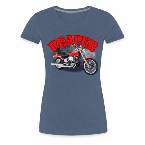 Motorcycle Reaper - Women's Premium T-Shirt