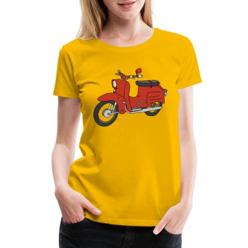 Schwalbe, ibiza-red scooter from GDR - Women's Premium T-Shirt