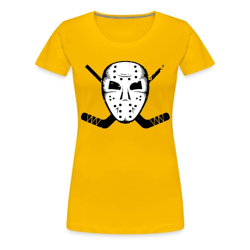 HOCKEY MASK STICKS ICE SKATE WINTER SPORTS FAN - Women's Premium T-Shirt
