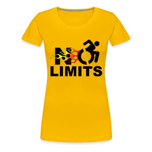No limits for me with my wheelchair - Women's Premium T-Shirt