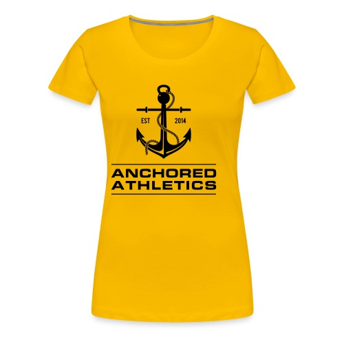 Anchored Athletics Vertical Black - Women's Premium T-Shirt