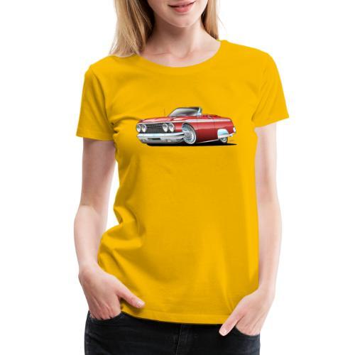 Sixties American Classic Car Convertible Cartoon - Women's Premium T-Shirt