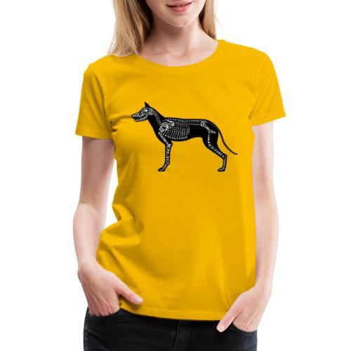 Skeleton Dog - Women's Premium T-Shirt