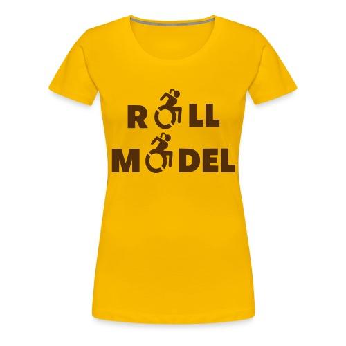 As a lady in a wheelchair i am a roll model - Women's Premium T-Shirt