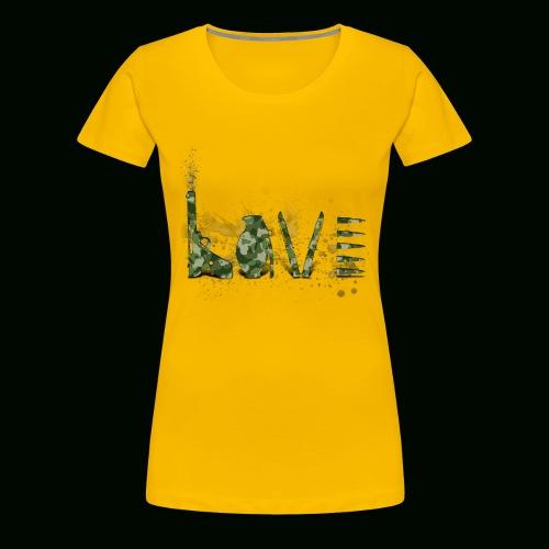 Love and War - Army - Women's Premium T-Shirt
