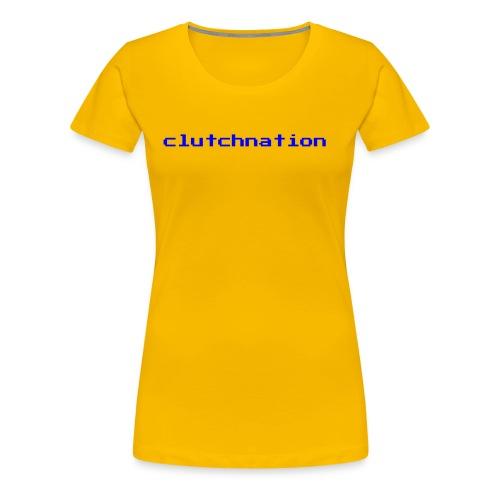 clutchnation video game blue logo - Women's Premium T-Shirt