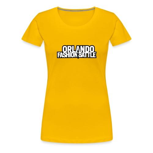 Orlando Fashion Battle Logo White Text - Women's Premium T-Shirt