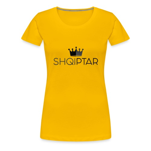 shqiptar black albanian proud king - Women's Premium T-Shirt