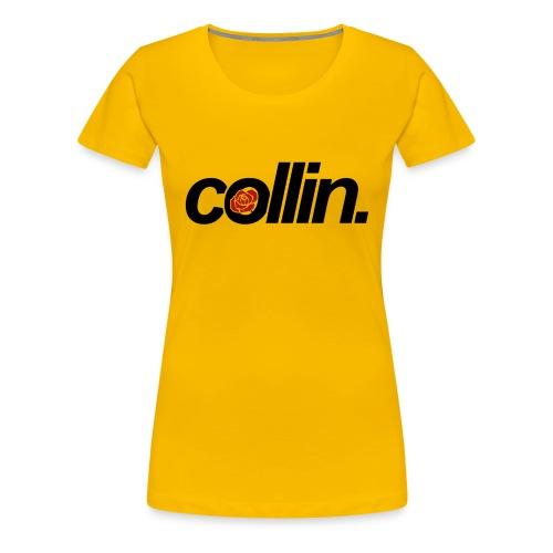 Collin. (Black w/ Rose) - Women's Premium T-Shirt