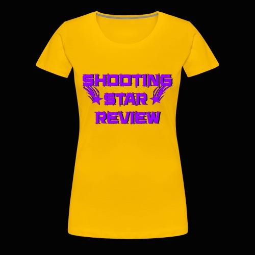 Shooting Star Review Purple Logo - Women's Premium T-Shirt