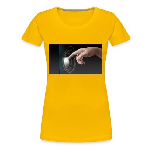hand working on modern technology G1L0zcHd - Women's Premium T-Shirt